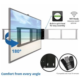 Support TV mural motorisé WiFi pivotant, ultra-plat, PREMIUM-SM-L180-WiFi